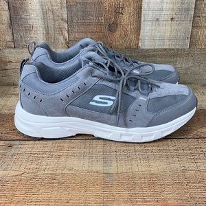 Skechers Relaxed Fit Oak Canyon Gray Sneaker Shoes